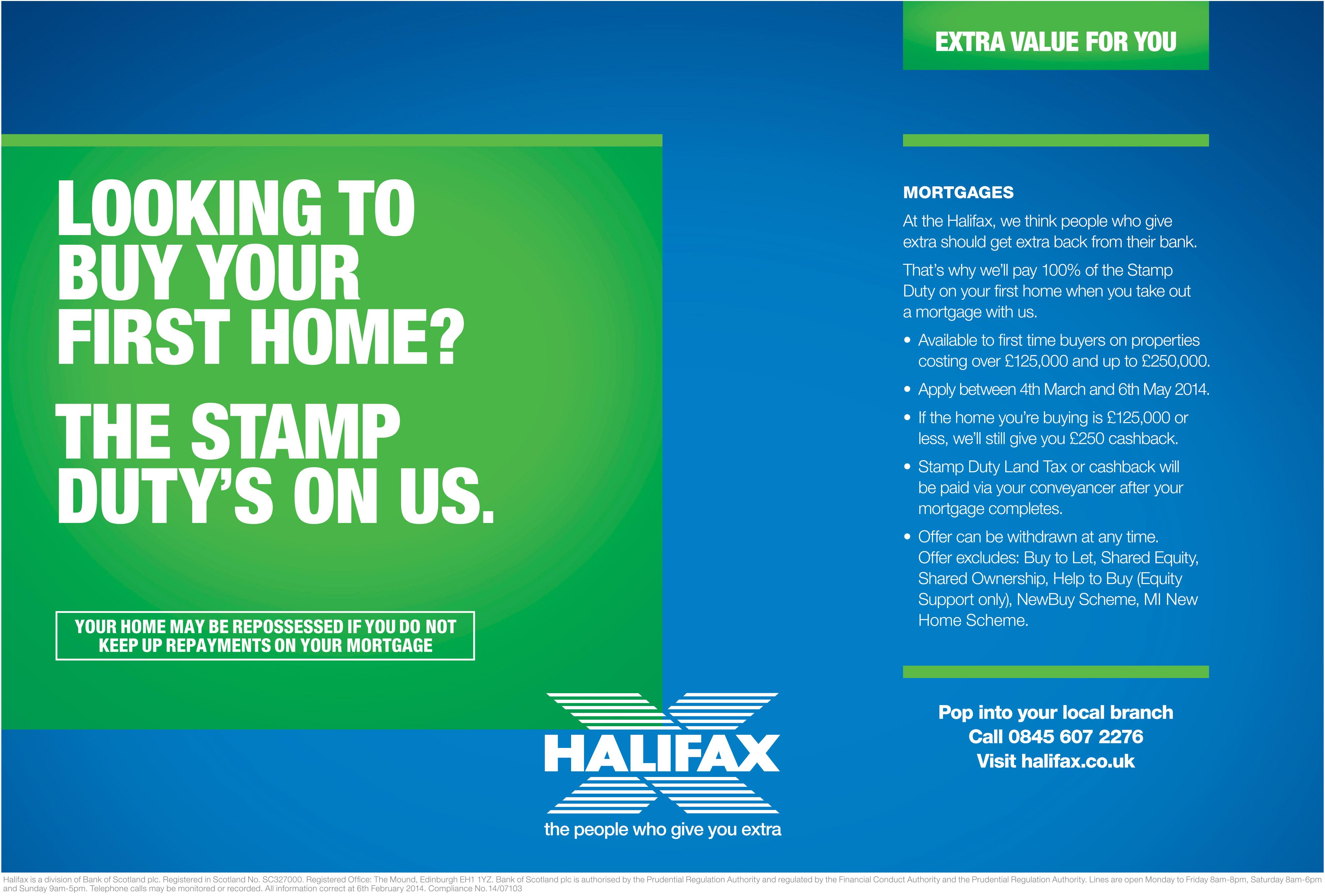 Halifax Stamp Duty