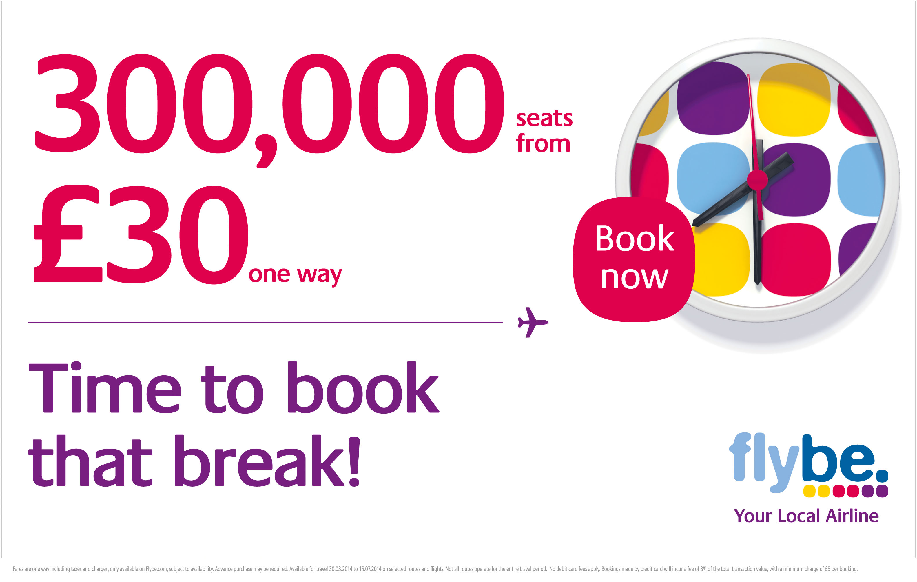 Flybe time to book